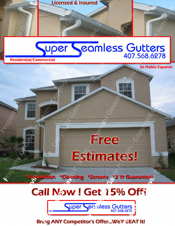 Super Seamless Gutters Flyer